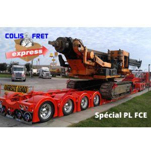 Transport de poids lourds FCE PORTE ENGIN 10 x 2,55 x 3 m poids max 12500 kg