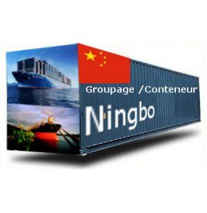 CHINE-Ningbodepuis la France GROUPAGE MARITIME