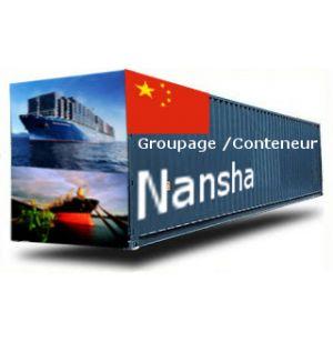 CHINE-Nanshadepuis la France GROUPAGE MARITIME