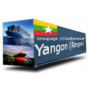 MYANMAR-Yangon (Rangoon) depuis la France GROUPAGE MARITIME
