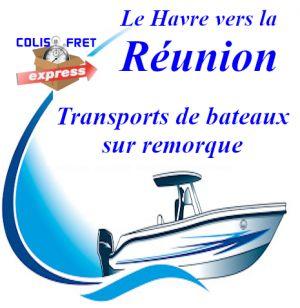 Bateau REUNION transport sur remorque